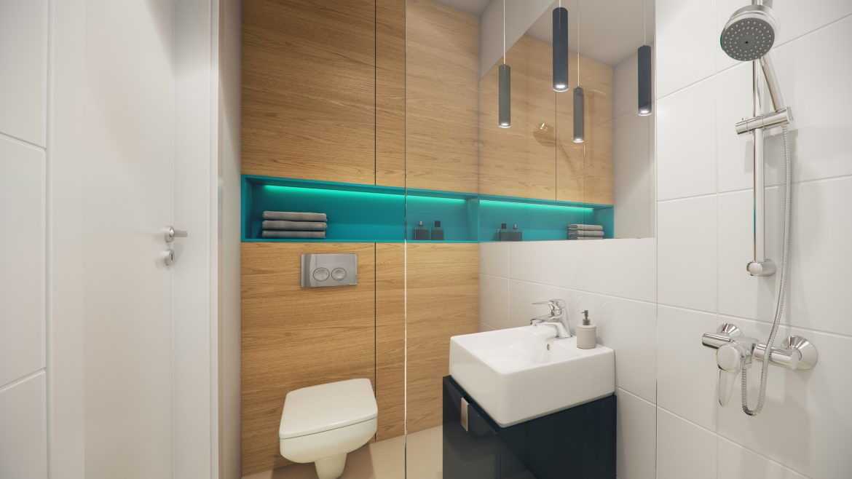 wizualizacja MINI apartamentu- łazienka